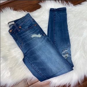 Madewell High Riser Bristol Skinny Jeans Size 26